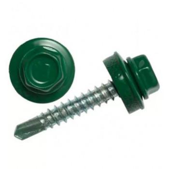 Саморез кровельный R6005 4,8*70  (зеленый мох) (1250шт)
